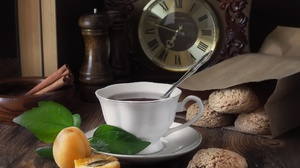 Apricot Cinnamon Cookie Cup Drink Still Life Tea 2080x1440 Wallpaper