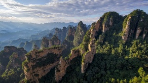 China Cliff Forest Landscape Nature 1920x1162 wallpaper