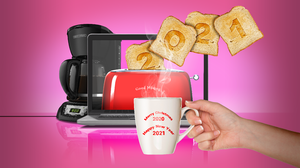 2021 Toast Toaster Coffee Happy New Year 5334x3000 Wallpaper