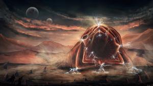 Creature Desert Dune Landscape 2560x1440 Wallpaper