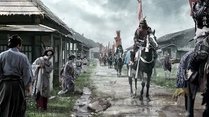 Banner Geisha Horse Oriental Samurai Warrior 1920x1080 Wallpaper