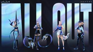 League Of Legends Ahri Ahri League Of Legends Fox Ears Crystal Evelynn Evelynn League Of Legends Kai 3840x2160 Wallpaper