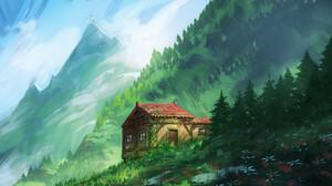 Fantasy House 1920x1080 Wallpaper
