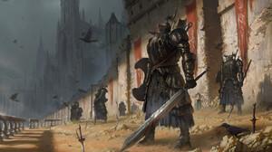 Knight Sword Black Armor Castle Dark Souls Ii 1920x1102 Wallpaper