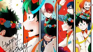 Izuku Midoriya Katsuki Bakugou Ochaco Uraraka Shoto Todoroki Tenya Iida 2559x1810 Wallpaper