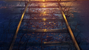 Illustration Doodle Sunset Railway Artwork Skyrick9413 HuashiJW 2268x3409 wallpaper