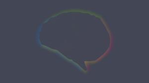Anatomy Brain Science Grey Simple Simple Background Minimalism Colorful 2560x1600 Wallpaper