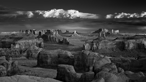 Photography Monochrome Rock Mountains USA Clouds Mitch Dobrowner Rock Formation Landscape Panorama N 2000x1333 Wallpaper