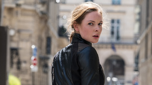Rebecca Ferguson Celebrity Women Face Leather Jackets 4000x2250 wallpaper