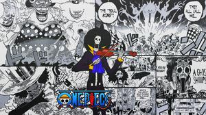 One Piece Brook Music Skeleton Collage Comics Manga Speech Bubble 1920x1080 Wallpaper