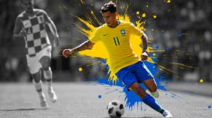 Brazilian Philippe Coutinho Soccer 1920x1200 Wallpaper