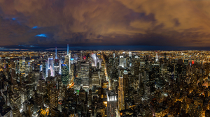 City Cityscape New York Night 1920x1080 Wallpaper