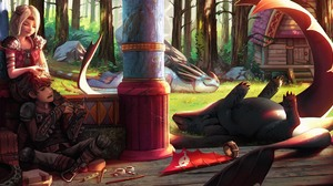 Dragon Hiccup How To Train Your Dragon Astrid How To Train Your Dragon Toothless How To Train Your D 4675x2160 wallpaper