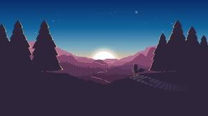 Artistic Forest Nature Path Silhouette Sunrise 3840x2160 Wallpaper