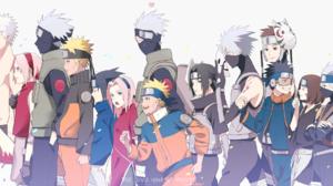 Naruto Uzumaki Sakura Haruno Sasuke Uchiha Kakashi Hatake Obito Uchiha Itachi Uchiha Minato Namikaze 3634x1080 Wallpaper