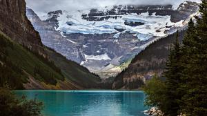 Banff National Park Lake Lake Louise Mountain Snow Tree 2000x1333 wallpaper