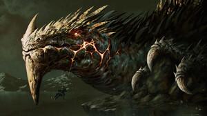 Omer Tunc Digital Art Fantasy Art Dragon 1920x1102 wallpaper