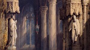 Artwork Painting Medieval Castle Architecture Statue Sculpture 2597x3999 Wallpaper