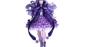 Long Hair Purple Hair Flower Braid Green Eyes 2800x2020 Wallpaper