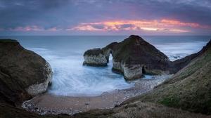 Arch Beach Coast England Flamborough Head Horizon Nature Ocean 2048x1152 Wallpaper