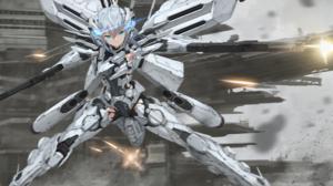 Anime Anime Girls Digital Art Artwork 2D Portrait Girls With Guns Weapon Armor Mecha Girls Silver Ha 2000x1306 Wallpaper