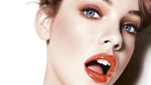 Blue Eyes Face Girl Lipstick Makeup Model Woman 1920x1200 Wallpaper