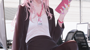 Anime Anime Girls Digital Art Artwork 2D Portrait Display Vertical Bae C Bunny Girl Red Eyes Pink Ha 1000x1414 wallpaper