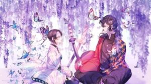 Giyuu Tomioka Shinobu Kochou 2937x2137 wallpaper
