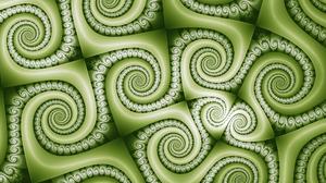 Abstract Artistic Digital Art Fractal Green Pattern Spiral 2560x1440 Wallpaper