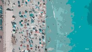 Artistic Artwork Beach Digital Art Sea Water 3105x1744 wallpaper