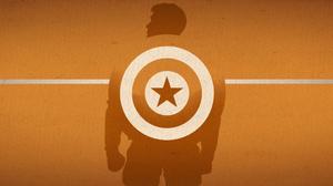 Captain America Marvel Comics Minimalist 3840x2160 Wallpaper