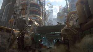 ZooWe Chen Artwork Science Fiction Futuristic Digital Art Futuristic City Cityscape 1920x1080 wallpaper