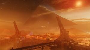 Destiny 2 Video Game Mars Pyramid 2560x1080 Wallpaper