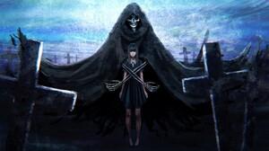 Dark Demon Girl Graveyard Tombstone 2400x1350 Wallpaper