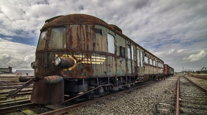 Train Old Rust Vehicle Wreck Railway 2000x1125 Wallpaper