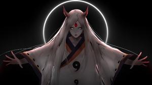 Naruto Anime Anime Girls Sharingan Color Correction Terror Dubstep Riddim Dubstep Kaguya Tsutsuki 1920x1080 Wallpaper
