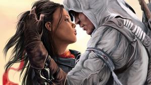 Assassin 039 S Creed Aveline De Grandpre Connor Assassin 039 S Creed Couple Girl Love 2560x1600 wallpaper
