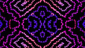 Geometry Symmetry Colorful Square Pink Blue 1920x1080 Wallpaper