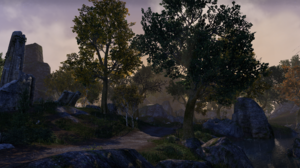 The Elder Scrolls Online Landscape Trees Mountains 2752x1152 wallpaper
