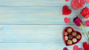 Chocolate Gift Heart Romantic Rose Valentine 039 S Day 4000x2670 Wallpaper