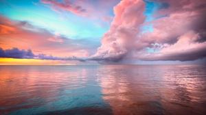 Cloud Horizon Ocean Sky Sunset 1920x1230 Wallpaper