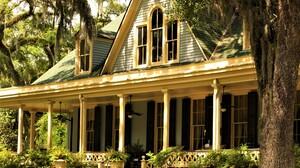 House Mansion Porch Tree 3888x2592 Wallpaper