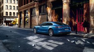 Blue Car Car Luxury Car Porsche Porsche Panamera Vehicle 3200x1800 Wallpaper