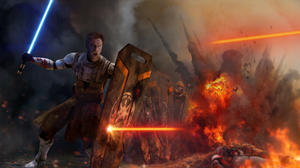 Battle Explosion Lightsaber Obi Wan Kenobi Shield Star Wars 1920x1080 Wallpaper