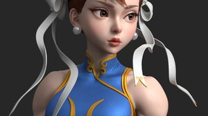 Chun Li Video Games Street Fighter Women Video Game Girls Video Game Art Video Game Warriors Simple  1920x1920 Wallpaper
