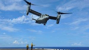 Bell Boeing Bell Boeing V 22 Osprey Helicopter Marines Military Mv 22 Osprey Navy Uss Bonhomme Richa 1600x1065 Wallpaper
