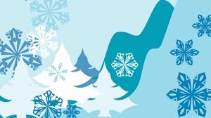 Blue Tree Snowflake Abstract 1920x1200 wallpaper