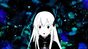 Echidna Anime Girlfriend Beta People White Butterfly Cyan Dark 3840x2160 Wallpaper