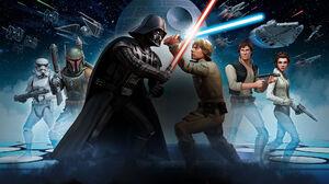 Boba Fett Darth Vader Death Star Han Solo Luke Skywalker Millennium Falcon Princess Leia Star Wars S 1920x1080 Wallpaper