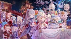 Anime Anime Girls Xia Ji Artwork Genshin Impact Aether Genshin Impact Amber Genshin Impact Barbara G 2042x1135 Wallpaper